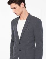 Slim fit jacket with micro-motifs
