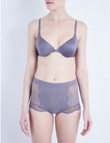 Wacoal Vision satin and lace contour bra