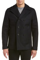 Zadig & Voltaire Mastic Vested Wool-Blend Peacoat