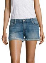Paige Jimmy Jimmy Frayed Cuffed Denim Shorts