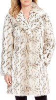 Eliza J Faux Fur Snow Leopard Coat