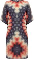 Warehouse Silk Tie Dye Dress, Multi