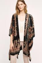 Anthropologie Velvet Jardin Kimono