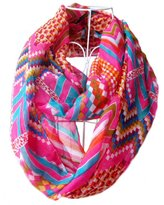 Tapp Collections Tapp C. Fashion Polka Dots Infinity Scarf - Orange