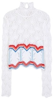 Peter Pilotto Lace Knit cotton sweater