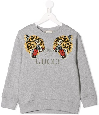 Gucci Kids leopard print sweatshirt