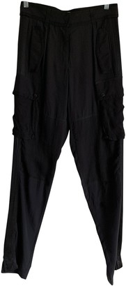 Givenchy Black Silk Trousers