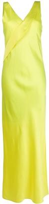 Helmut Lang V-Neck Long Dress