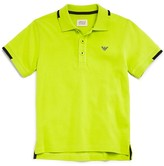 Armani Junior Armani Boys' Color Tipped Pique Polo Shirt - Sizes 4-16