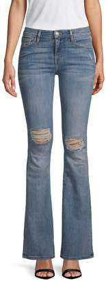Etienne Marcel Distressed Bootcut Jeans