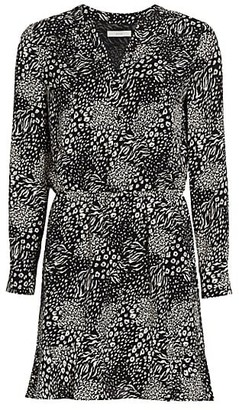 Joie Acey Leopard Print Dress