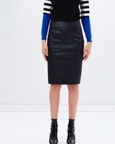 Karen Millen Faux-leather pencil skirt