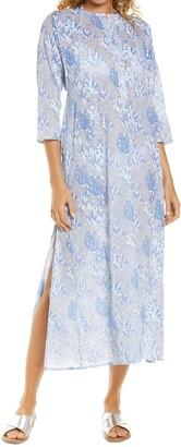 Roller Rabbit Ugyen Leaves Cover-Up Maxi Dress
