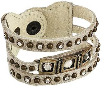 Leather Rock Opal Bracelet (Stone) Bracelet