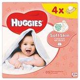 Huggies Soft Skin Wipes 4 x 64 per pack by