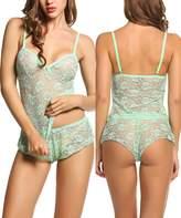 Avidlove Women Baby Doll Lingerie Sleepwear Pajamas Short Sets Lace chemises S