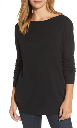 Halogen Boatneck Tunic Sweater