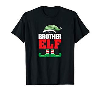 Funny Brother Elf Matching Family Group Holiday Party Pajama T-Shirt