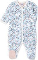 Petit Bateau Floral-print cotton sleepsuit 1-24 months