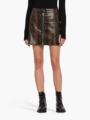 AllSaints Lena Oba Leather Skirt