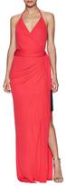 L'Agence Sabrina Side Pleated Fringe Wrap Dress