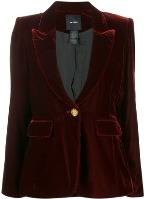 Smythe Velour Tuxedo-Style Blazer