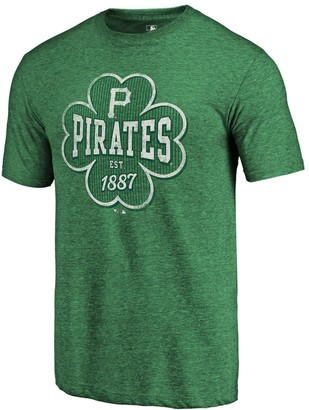 Men's Fanatics Branded Kelly Green Pittsburgh Pirates 2018 St. Patrick's Day Emerald Isle Tri-Blend T-Shirt