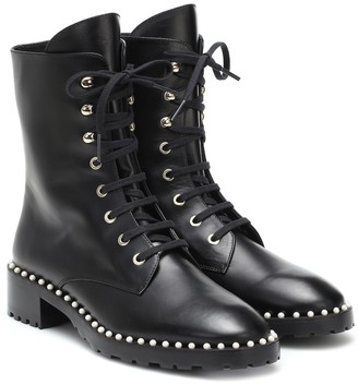 Stuart Weitzman Allie leather combat boots