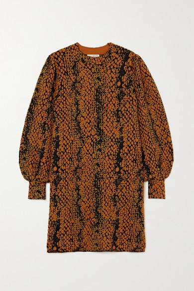 Ulla Johnson Lina Wool-jacquard Mini Dress - Tan