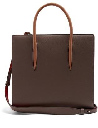 Christian Louboutin Paloma Medium Grained-leather Tote - Womens - Grey Multi