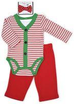 Vitamins Baby Baby Boy Christmas Bodysuit, Pants & Bowtie Set