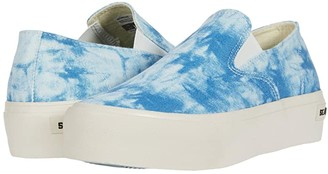 SeaVees Baja Slip-On Platform Tie-Dye (Blue) Women's Shoes