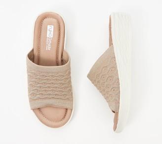 Ryka Stretch Knit Slide Demi-Wedges - Nanette