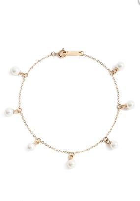 Knotty Imitation Pearl Charm Bracelet