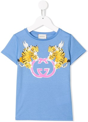 Gucci Kids graphic print T-shirt