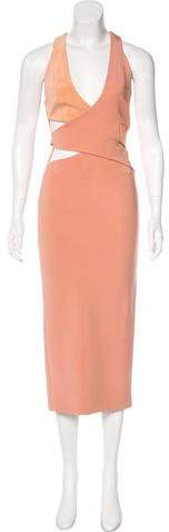 Dion Lee Suede-Trimmed Midi Dress w/ Tags