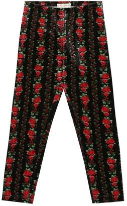 MonnaLisa Floral velvet pants