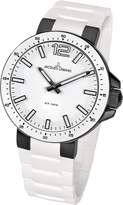 Jacques Lemans Milano 1-1707P 30mm Ion Plated Stainless Steel Case Silicone Mineral Women's Watch