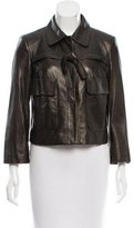Robert Rodriguez Bow-Accented Leather Jacket