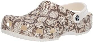 Crocs Women's Classic Snake Print Clog|Comfortable Slip On Fashion Shoe