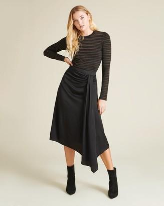 Veronica Beard Parisa Wrap Skirt