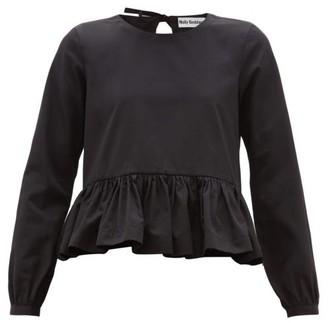 Molly Goddard Wilfred Peplum-hem Cotton Top - Black