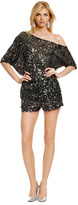 Robert Rodriguez Collection Sequin Disco Romper