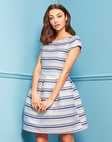 Closet Jacquard Stripe Dress