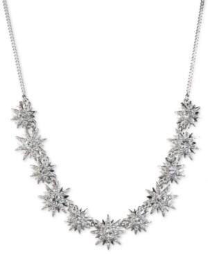"Givenchy Crystal Starburst Statement Necklace, 16"" + 3"" extender"