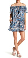 Jets Paisley Print Off-the-Shoulder Dress