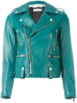 Golden Goose Deluxe Brand Laurent biker jacket - women - Leather/Cupro/Viscose - S