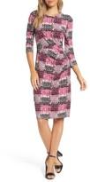 Eliza J Petite Women's Jersey Sheath Dress