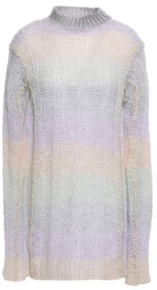 Acne Studios Open-knit Mohair-blend Turtleneck Sweater