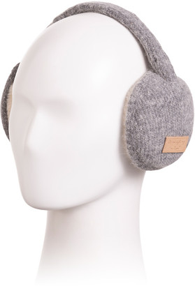 Faux Fur Lined Knitted Earmuffs